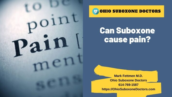 Can Suboxone cause pain graphic for Ohio Suboxone Doctors